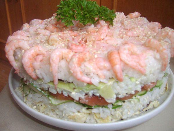 Суши -торт