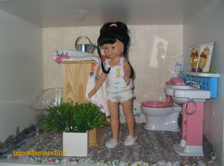 Chidori dans la salle de bain... http://tricotdamandine.over-blog.com/2016/02/ma-nouvelle-salle-de-bain.html