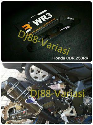 Exhaust hanger cbr 250rr wr3 bukan agna inspire gantungan knalpot pengganti step belakang cbr250rr pegangan knalpot cbr 250rr