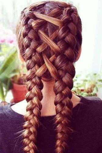18 Cute Double Dutch Braid Ideas  .......................................  #hairideas #hairstyles #haircuts #hairlavie #hairinspo #hairinspiration #hair #hairlavie #braids #braidtutorial #hairtutorial #longhair