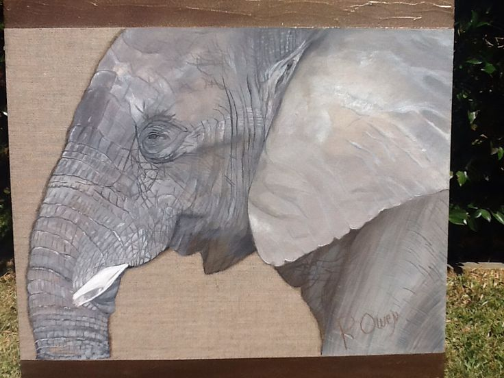 Guardian - He is on a linen canvas & is acrylic paint and texture .