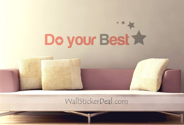 Do The Best Quotes Wall Stickers