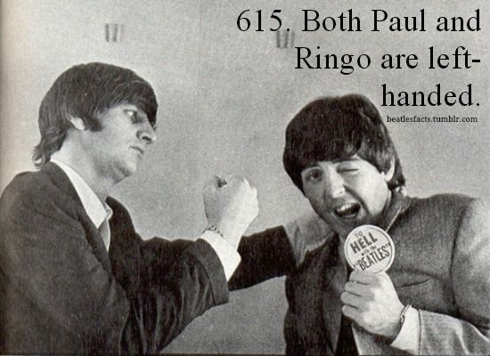 What the I didn't know ringo was left handed