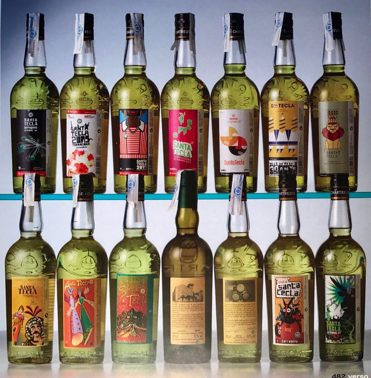 Santa Tecla's #chartreuse bottles photo collection, from 2001 to 2014