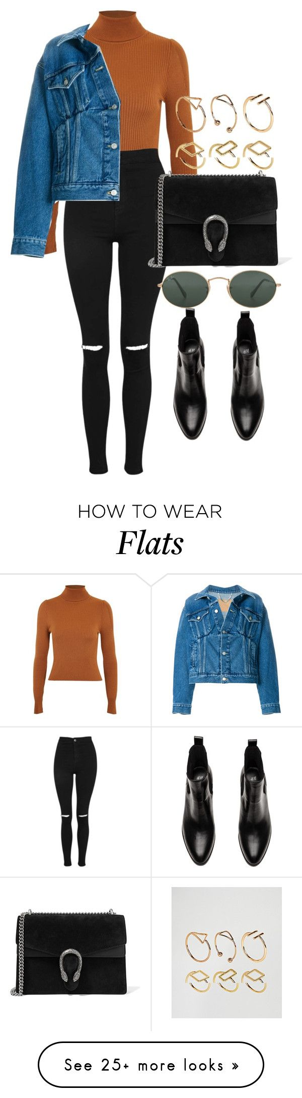 """""""Untitled #5165"""" by olivia-mr on Polyvore featuring Topshop, Balenciaga, Ray-Ban, Gucci and ASOS"""