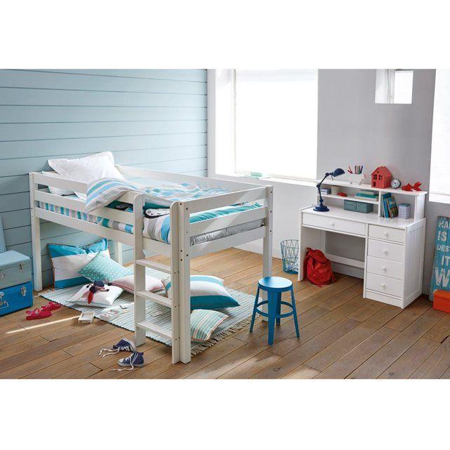 lits surlevs affordable l gant lit sur lev avec bureau. Black Bedroom Furniture Sets. Home Design Ideas