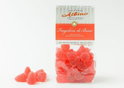 Morbida gelèe prodotta con succo di frutta di fragolina e aromi naturali