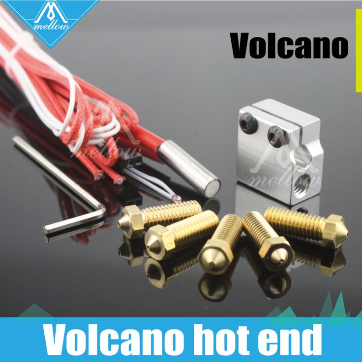 <b>HOT</b>!<b>3D printer parts</b> 12V/24V 0.2mm--1.2mm Volcano hot end ...