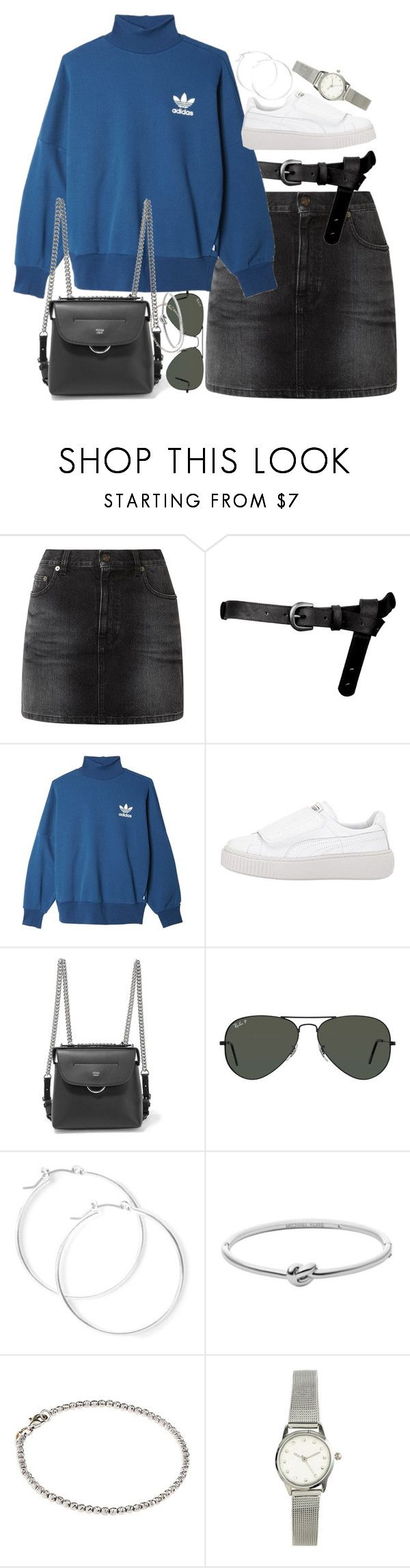 """""""Unbenannt #1382"""" by flytotheunknown ❤ liked on Polyvore featuring Yves Saint Laurent, ASOS, adidas Originals, Fendi, Ray-Ban, claire's, Michael Kors, Carolina Bucci and H&M"""