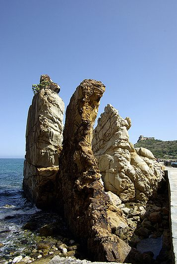 Formations rocheuses des aiguilles de Tabarka - Tunisie 2009