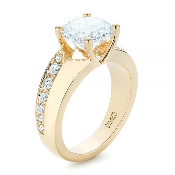 Custom Diamond Engagement Ring 102283 Seattle Bellevue Joseph Jewelry Custom Diamond Engagement Rings Diamond Engagement Rings Diamond Engagement