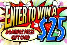 I just entered to win a $25 Dominos Pizza Gift Card from Fun Promotions.  You should, too! HURRY! http://swee.ps/URJAyqoBM Only 11 Hours left!!