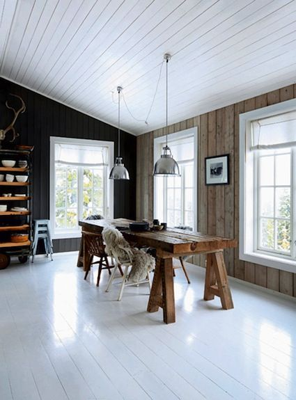 The rustic Norwegian log cabin hide-away. Space and light a plenty