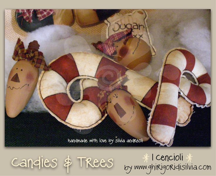 Cenciolo CANDIES & TREES by Ghirigori di Silvia di GhirigoridiSilvia su Etsy