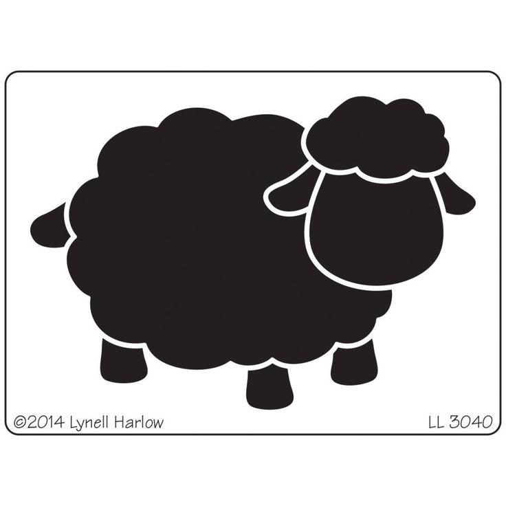 Dreamweaver Stencils - Open Sheep LL340 metalowy szablon - owca Na-Strychu
