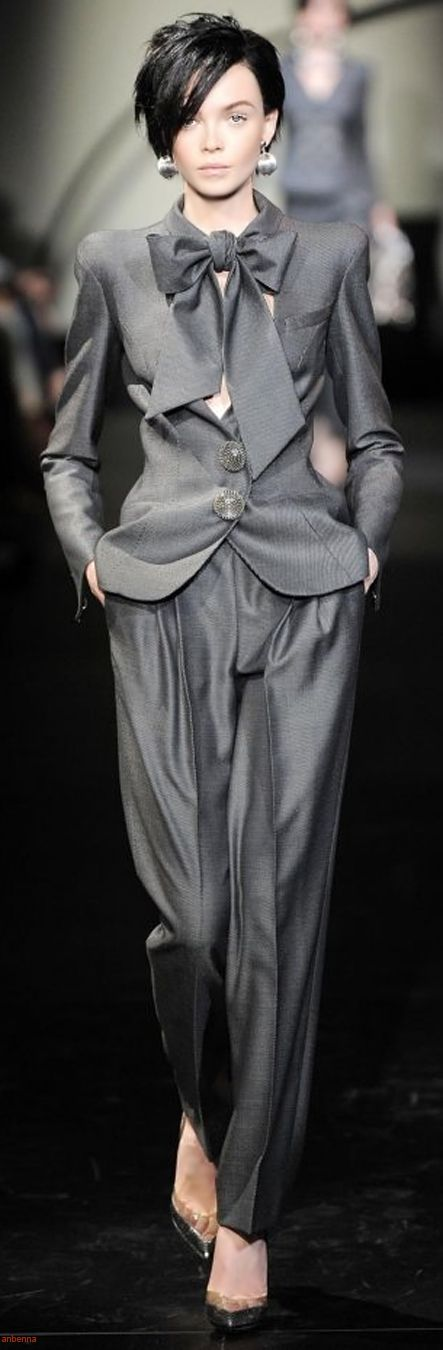 Armani Prive Haute Couture I couldn't actually wear the pants but this whole look is fabulous.