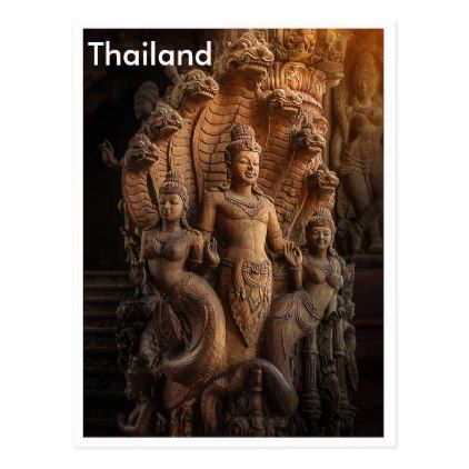 #Thailandtraditional wood carving art postcard - #travel #trip #journey #tour #voyage #vacationtrip #vaction #traveling #travelling #gifts #giftideas #idea