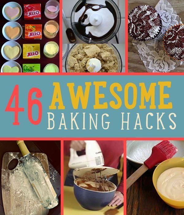 46 Awesome Baking Hacks  | Homemade Recipes and Food by DIY Ready http://diyready.com/46-awesome-baking-hacks