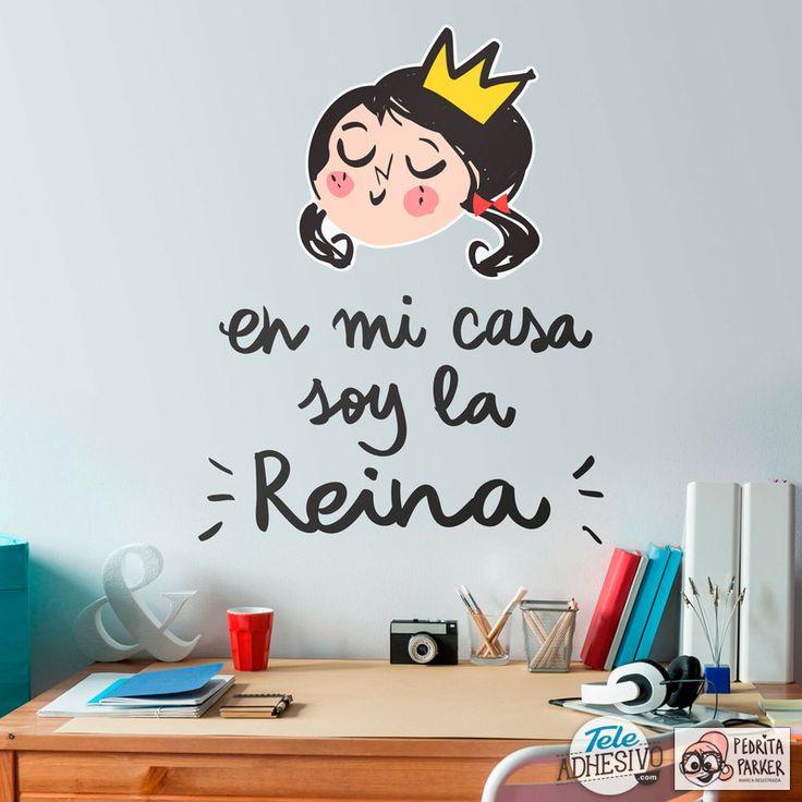 Vinilos Infantiles: En mi casa soy la Reina #pedrita #parker #vinilo #decoracion #pared