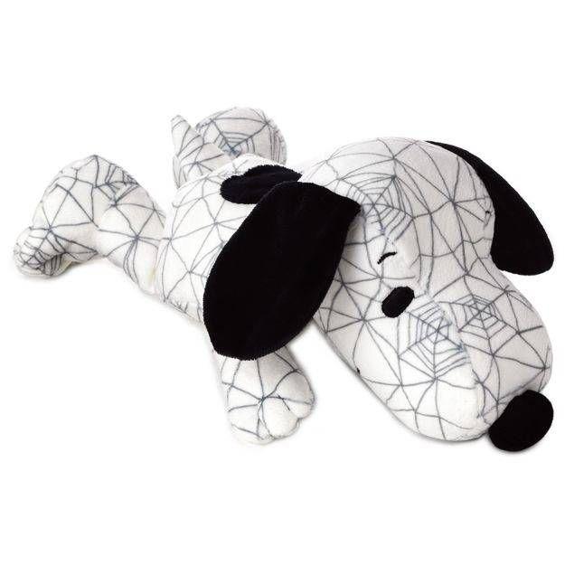 "Peanuts® Snoopy Cobweb Print Floppy Stuffed Animal, 10"""