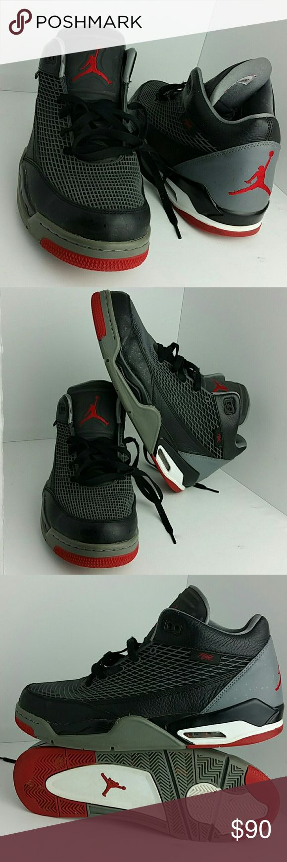 AIR JORDAN FLIGHT CLUB 80'S MEN'S SHOES VERY CLEAN INSIDE-OUT   SKE # KE Air Jordan Shoes Athletic Shoes
