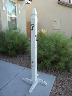 Stocking tree, instead of mantel. I really love this idea!