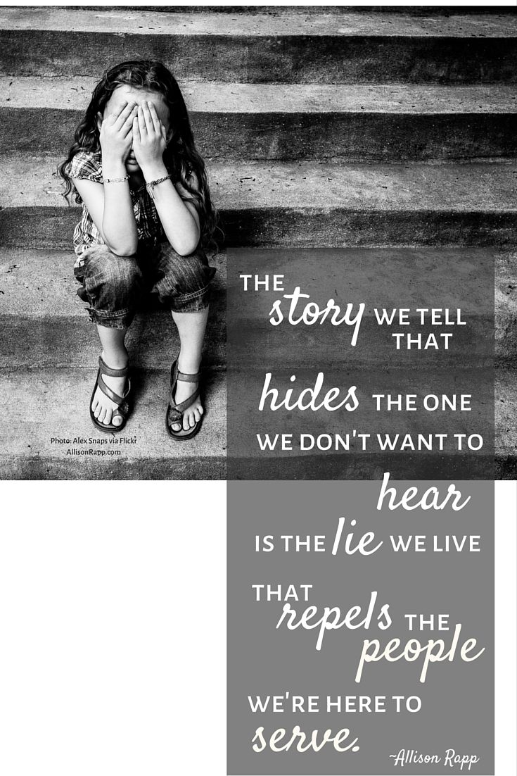 The story we tell that hides the one we don't want to hear is the lie we live that repels the people we're here to serve. What are the stories that are keeping your clients away? #Feldenkrais #somatic #craniosacral