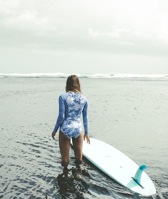 we can't get enough of our palmy prints || SURF CAPSULE SALTY DAYZ LONG SLEEVE SPRINGSUIT