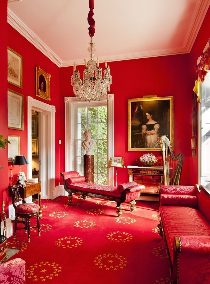 Shabby Castle Chic   rich and gorgeous home decor   luxe red sitting room730 best Red Inspired Decor images on Pinterest   Living room  . Red Room Decor. Home Design Ideas