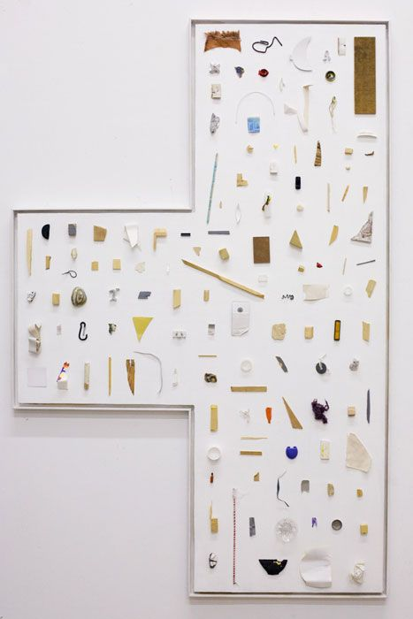 Collection #7, 2011  ood, Canvas, Oil, Wax, Colored Pencil  90.5 x 25 x .75 inches