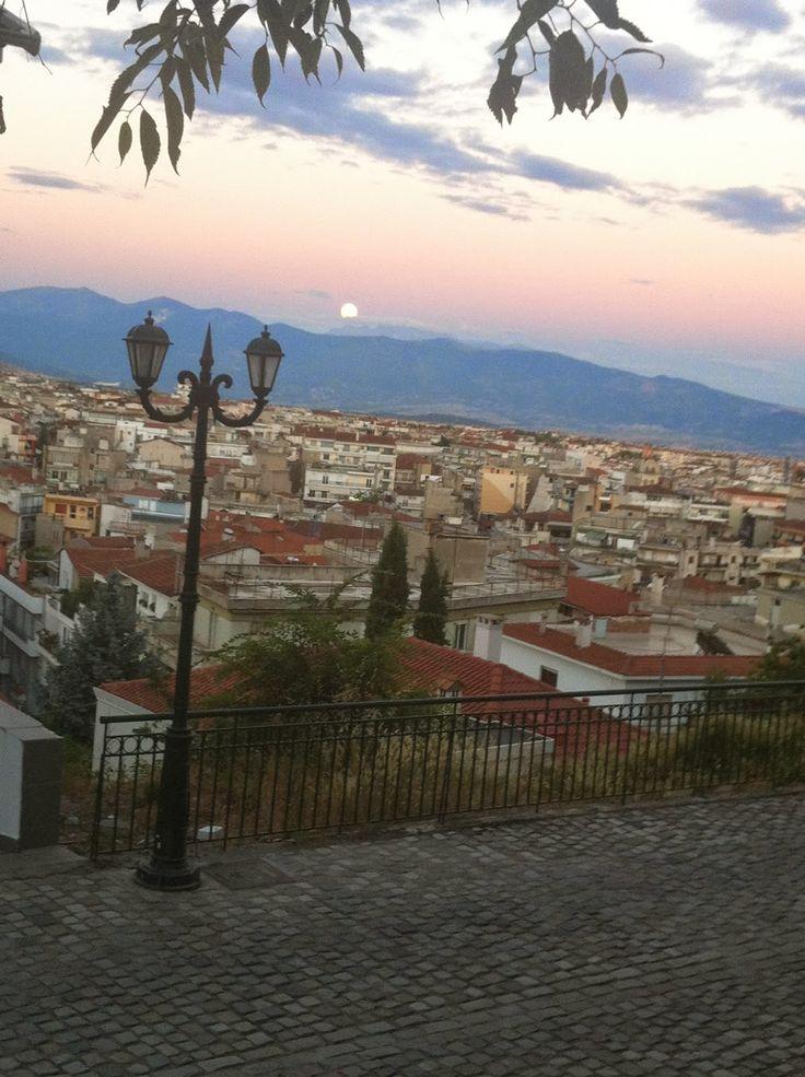πανσέληνος στην Κοζάνη full moon in kozani greece
