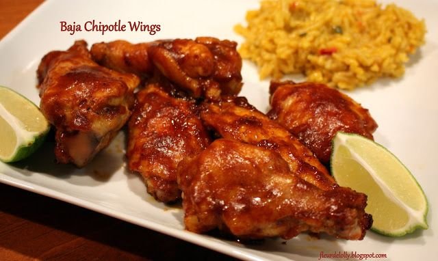 Fleur de Lolly: Wing Wednesdays:  Baja Chipotle Wings. A sticky, gooey, garlicky, wing!