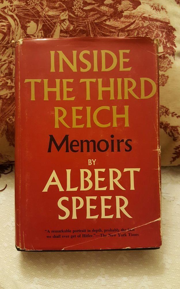 Inside the Third Reich, Albert Speer, HC, first edition/U.S. printing, 1970   Books, Antiquarian & Collectible   eBay!