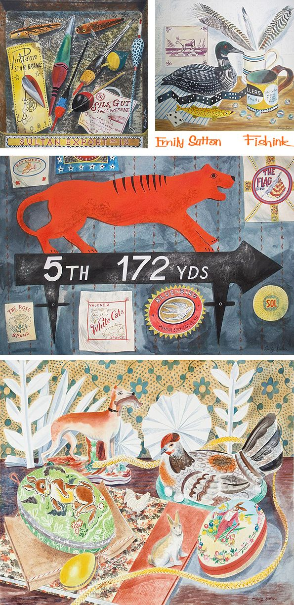 Next weekend is another chance to not only meet fellow illustrators Mark Hearld and Emily Sutton, in the surrounds of their own home, but also to purchase an original collage or watercolour from th…
