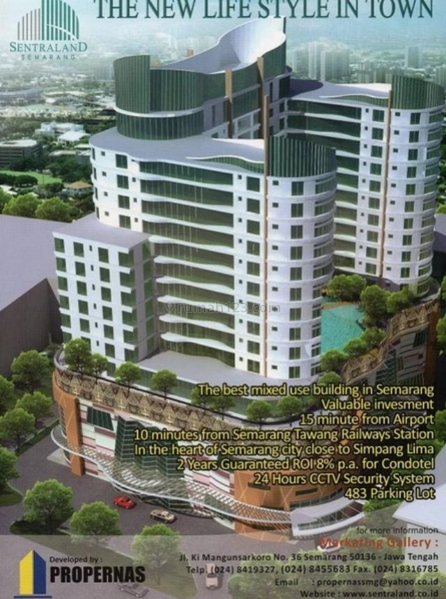 Dijual di Semarang Tengah Semarang :Apartemen Daerah Semarang Tengah Sentraland Dekat UNDIPDari atas ketinggian  arahkan tatapan Anda ke selatan  dan Anda akan mendapatkan pemandanga | ID: aps216099