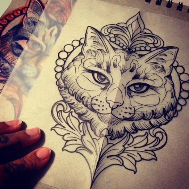 Tattoo sketch by @rizza_boo