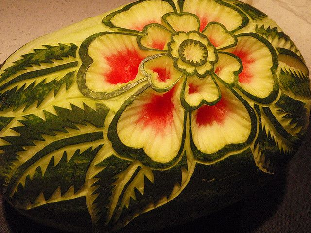 my 2nd watermelon carving by Jessica Jae, via Flickr
