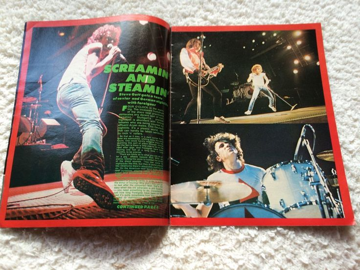 1982 Kerrang Magazine NO 15 Foreigner Cover Rainbow Poster UFO Anvil Kiss Halen | eBay