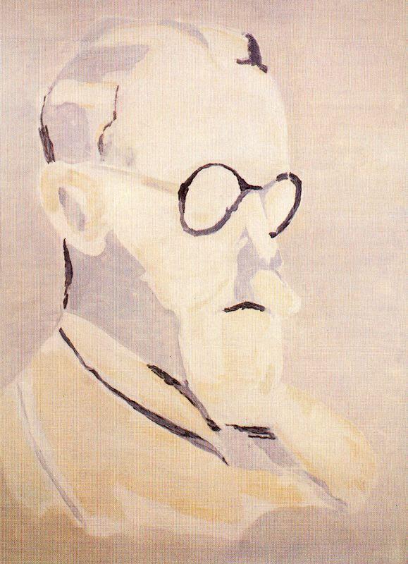 Luc Tuymans (Belgian, b. 1958)  A Flemish Intellectual, 1995  Oil on canvas  Musée des Beaux-Arts de Nantes, France