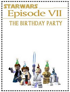 Free blank Lego Star Wars Invite