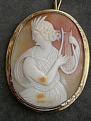 Vintage cameo jewelry 158 pinterest french antique 18k yellow huge cameo pendant brooch mozeypictures Choice Image