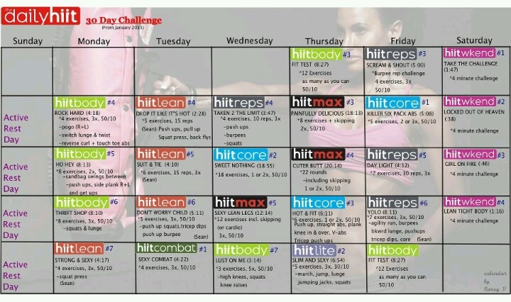 30 Day Challenge from Body Rock...