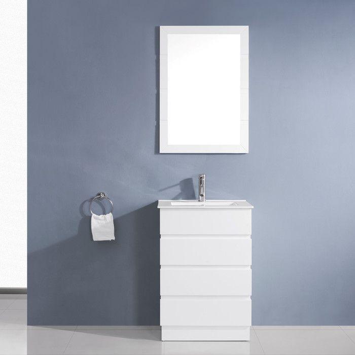 Bruno 24 Single Contemporary Bathroom Vanity Set