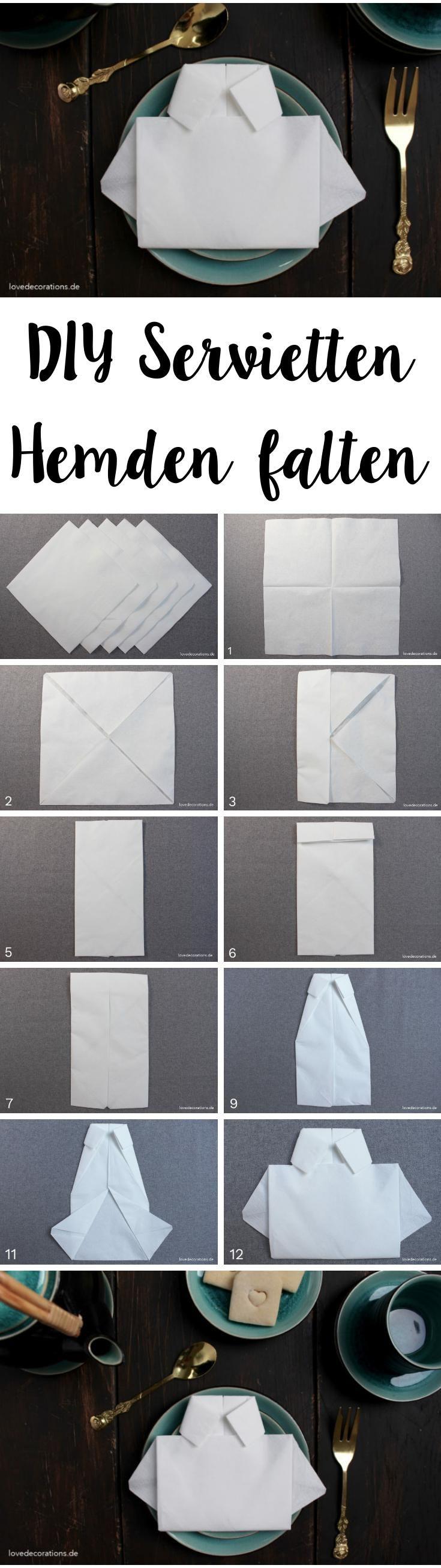 DIY Napkin Folding: Shirt | DIY Servietten Hemden falten