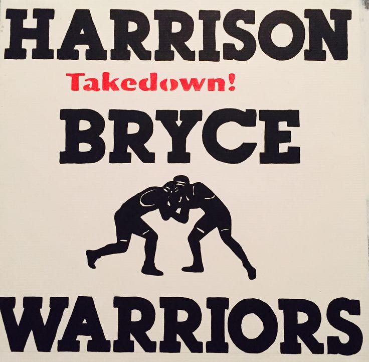 Wrestling high school yard sign.