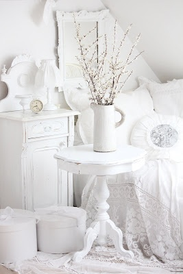 white and shabby...