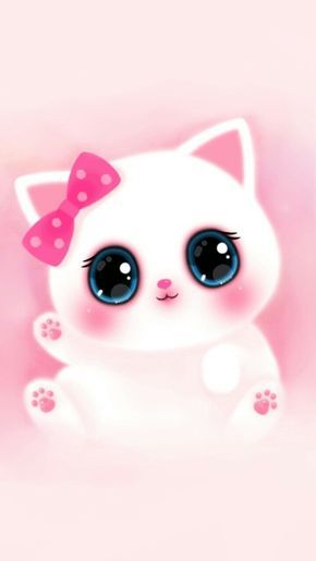 Pink Cute Girly Cat Melody Iphone Wallpaper
