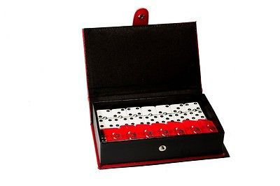 Chicago Bulls Dominoes Game Set, Double Six, Domino, Leather Case,Basketball,New