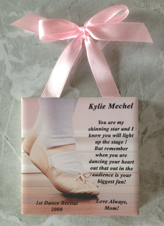 Small 4 Personalized Dance Recital Message Tile by CreatedByMechel, $19.99