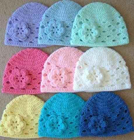 Gorros Tejidos Al Crochet Para Bebe - $ 45,00